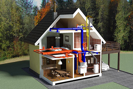 Multi-zone heating automation system ().